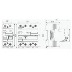 Interrupteur différentiel triphasé + neutre 30mA type AC