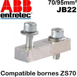 Barrette de jonction pour Bloc ZS70 ABB Entrelec Entrelec