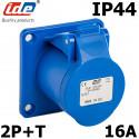 Embase femelle P17 de type CEE étanche IP44 mono 2P+T 16A IDE