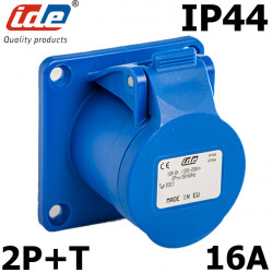 Embase femelle P17 de type CEE étanche IP44 mono 2P+T 16A