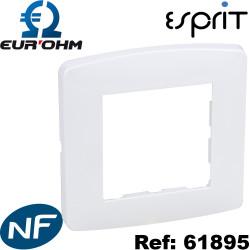 Plaque de finition blanche 1 Poste - Esprit Eurohm