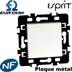 Interrupteur Va et vient Blanc 1 poste - Esprit Eurohm - certifié NF avec plaque métal