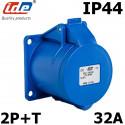 Embase prise CEE 2P+T 32a 230V étanche IP44 IDE