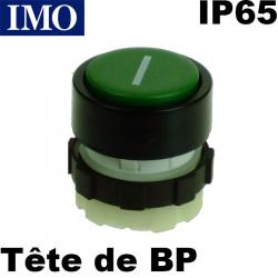 Bouton poussoir Marche - VERT - symbole I - étanche IP65