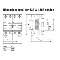 Interrupteur sectionneur 63A Mono ou Triphasé IMO General Electric