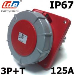 Prise femelle à encastrer 3P+T 125A IP67