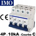 Disjoncteur tétrapolaire 3P+N - Courbe C - 10kA - IMO