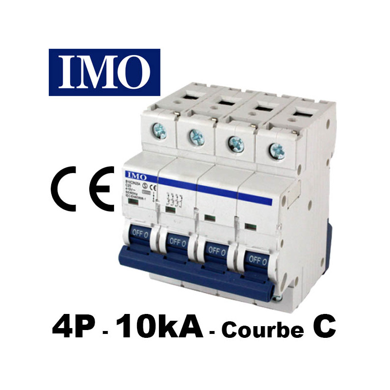 Disjoncteur tétrapolaire 3P+ Neutre - Courbe C - 10kA - IMO