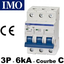 Disjoncteur tripolaire 3 pôles 6kA courbe C - IMO
