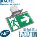 Bloc Encastré Kaufel BrioSpot 60L A - Évacuation IP43 - Kaufel 100111K Kaufel