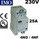 Contacteur de puissance tétrapolaire 25A pour tableau électrique