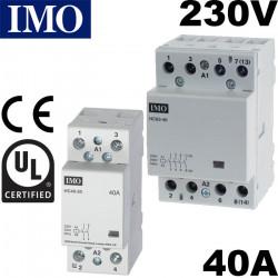 Contacteur de puissance 40A 230V - 2 ou 4 poles - IMO