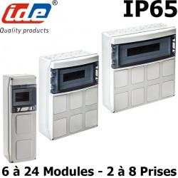 Coffret étanche IP65 pour prises industrielles - À composer 2 ou 8 prises