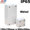 Boitier métallique étanche TECNO - IP65 type boite à bornes IDE