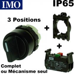 Bouton tournant 3 positions étanche IP65