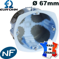 Boite encastrable Eur'Ohm XL AIRMETIC Ø67mm Eur'Ohm