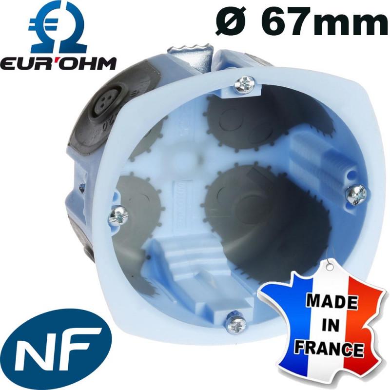 Boite encastrable Eur'Ohm XL AIRMETIC Ø67mm