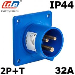 Embase male à encastrer 32A 2P+T IDE