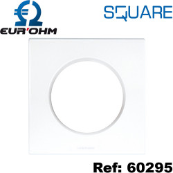 Plaque de finition prise électrique - blanche - SQUARE Eurohm