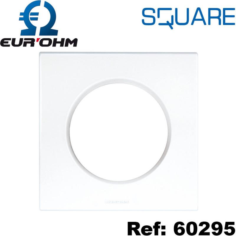 Plaque de finition prise électrique – blanc - SQUARE Eurohm