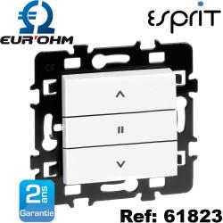 Interrupteur de volets roulants 3 positions et double poussoir 6A gamme Esprit Eurohm