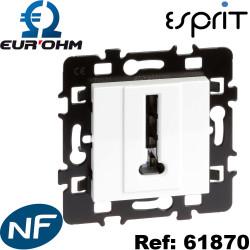 Prise téléphone en T 8 contacts Blanc Esprit Eurohm