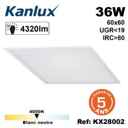 Dalle lumineuse 36W UGR inférieur à 19 garantie 5ans Kanlux Kanlux