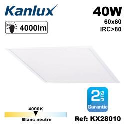 dalle led 60x60 lumineuse garantie 2 ans 40w 4000lumens 25000h kanlux 28010