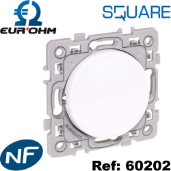 Bouton POUSSOIR 10A (Contact NO et NF) blanc SQUARE Eurohm