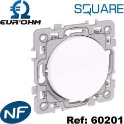 Interrupteur va et vient 10A SQUARE Eurohm - certifié NF