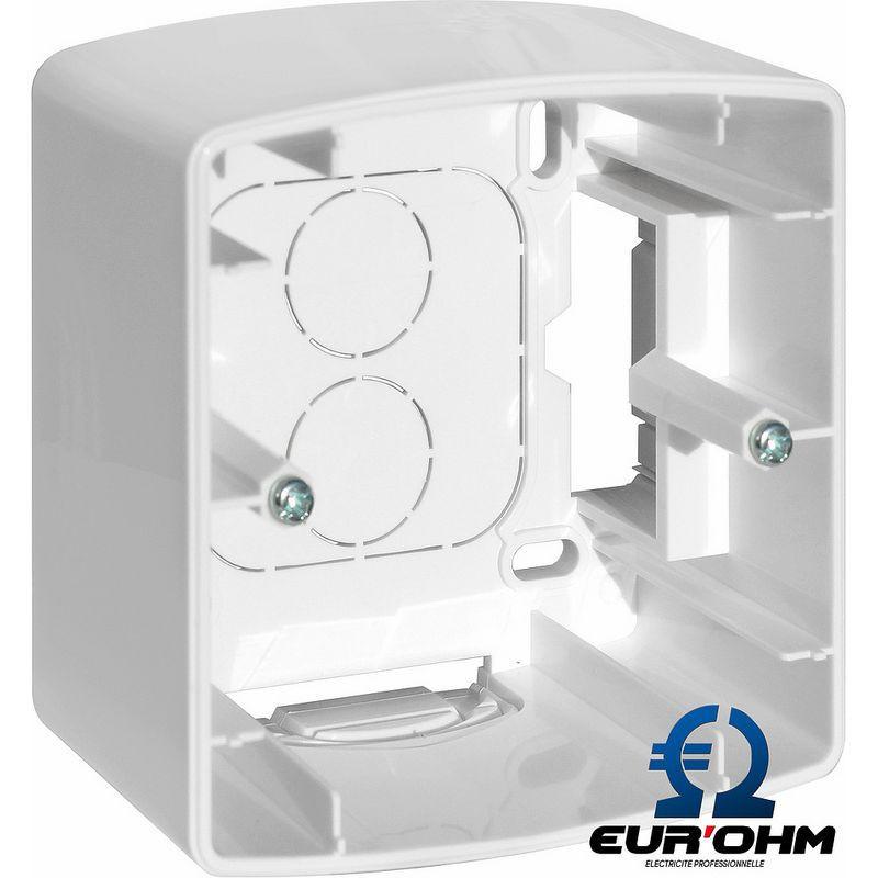 Cadre saillie 1 à 6 postes pour appareillage Blanc Esprit Eurohm Eur'Ohm