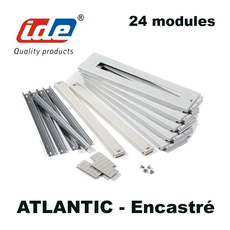 Kit rail DIN pour armoire ENCASTRABLE Atlantic IDE