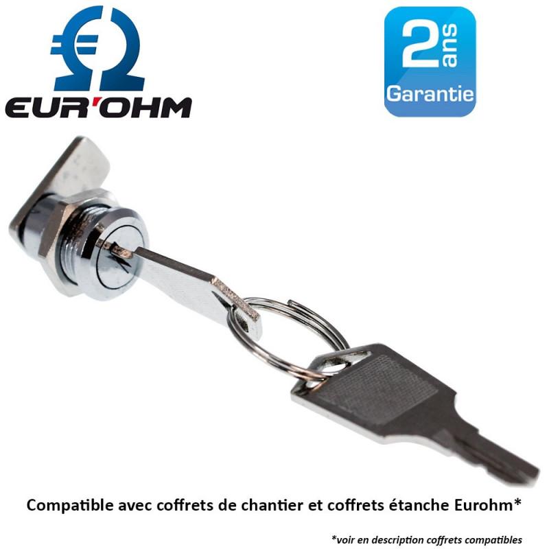 Serrure à clé pour coffret étanche Eurohm Eur'Ohm