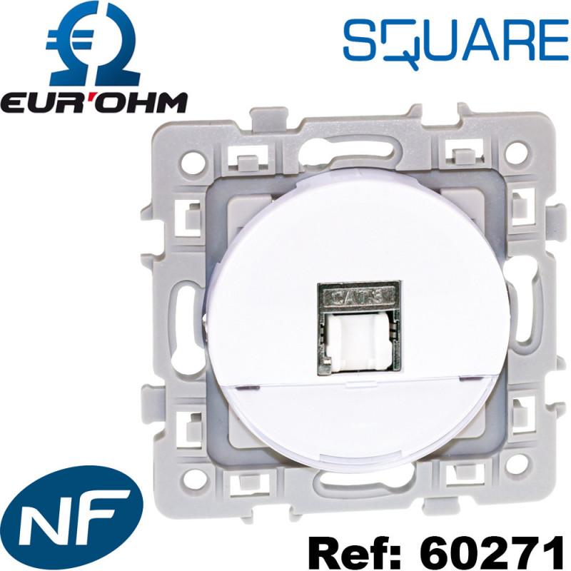 Prise RJ45 murale blanche Square Eurohm Eur'Ohm