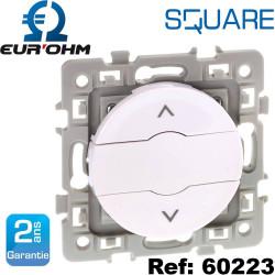 Interrupteur volet roulant 3 positions 6A haut/bas/ stop blanc SQUARE Eurohm