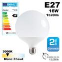 Ampoule LED E27 16W 3000K 1520lm 15,000h equ. 100w
