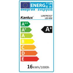 Ampoule LED E27 16W 3000K 1520lm 15,000h equ. 100w Kanlux