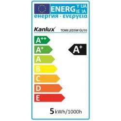 Ampoule LED GU10 5W 380lm 20,000h