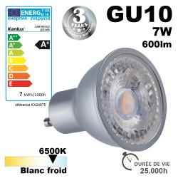 Ampoule LED GU10 PRO 7W équivalent 48W - Garantie 3 ans