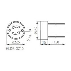 Douille GU10 en ceramique pour ampoule led GU10
