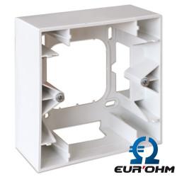 Cadre saillie 1 ou 2 postes pour appareillage Blanc Square Eurohm Eur'Ohm