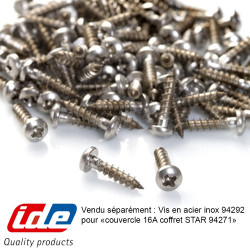 Couvercle 16A pour coffret étanche STAR IP65 pour prises industrielles IDE