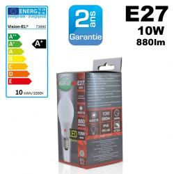 Ampoule crépusculaire LED culot E27 4000k 880lm 10W Kanlux