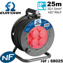 Enrouleur électrique étanche HO7RNF (qualité industrielle) longueur 20 à 40m Eur'Ohm