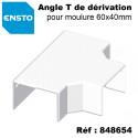 Moulure électrique PVC 60x40mm pour mur ou plafond - Longueur 2 mètres