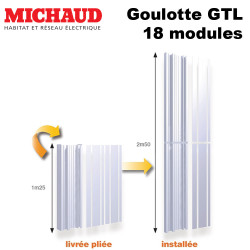 Goulotte GTL pliante 18 modules MICHAUD