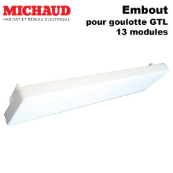 Embout goulotte GTL Michaud 13 modules