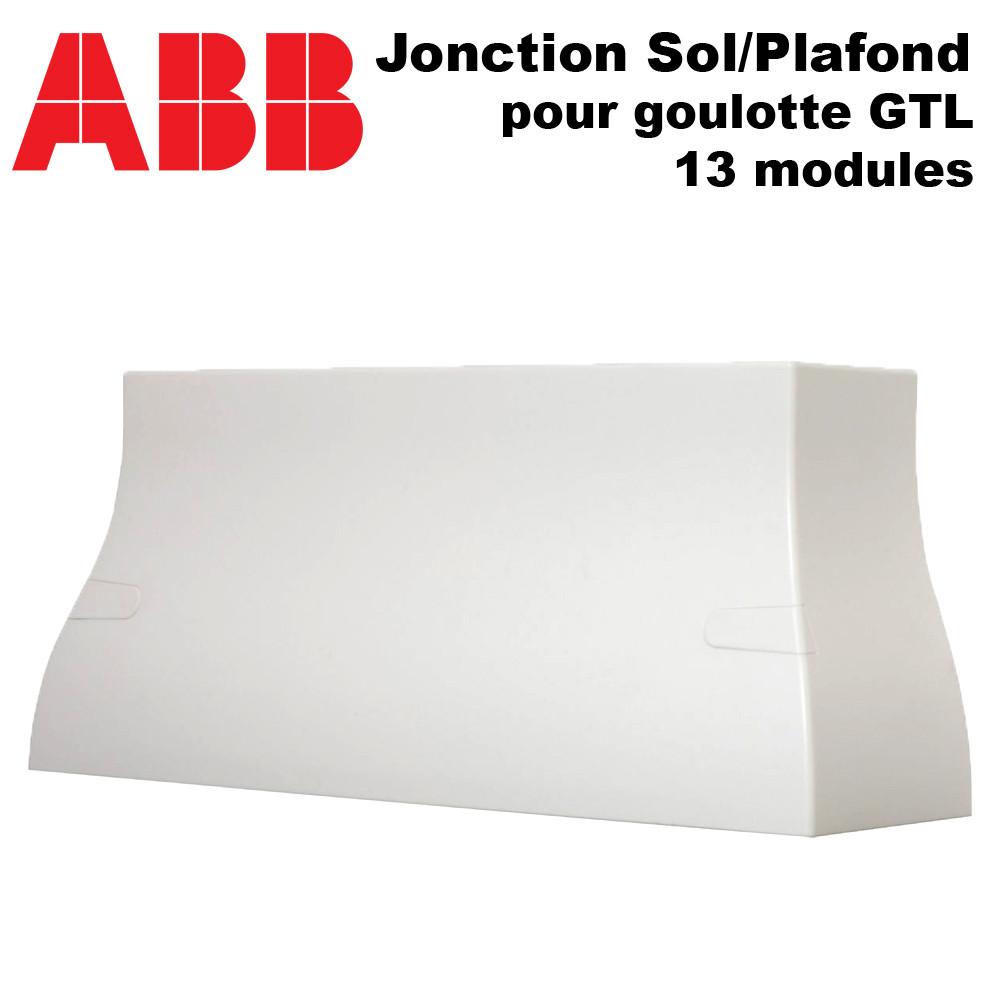 Goulotte Pour Plafond jonction sol plafond à 17.66€ ht goulotte gtl 13 modules abb