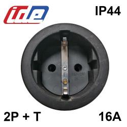 Fiche Femelle caoutchouc 135mm IP44 2P+T 16A/250V IDE