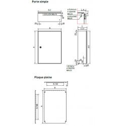 Coffret ATEX Inox 304 avec plaque de montage IDE